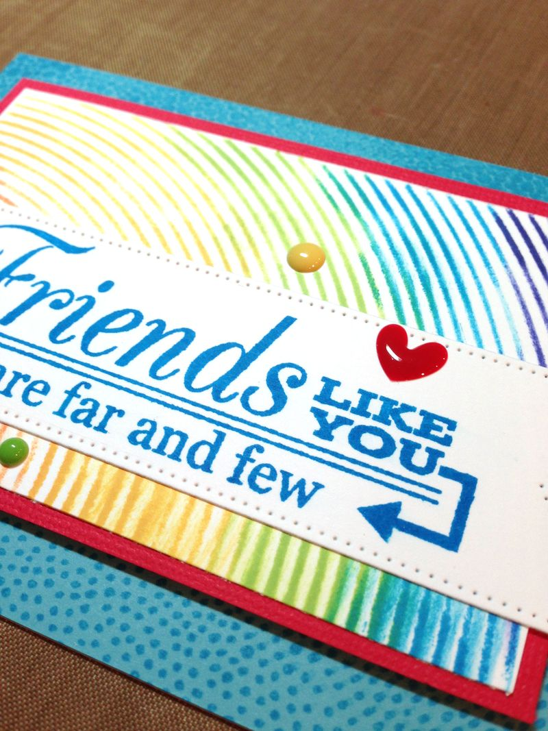 Friend card for Jennifer close up