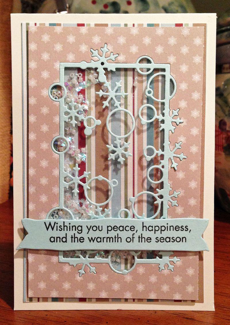 Wishing you peace shaker card