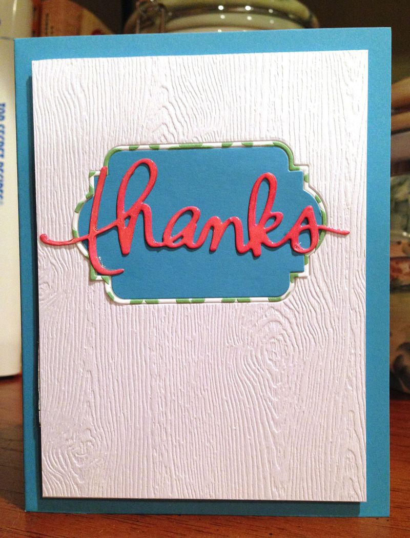 Textured thanks card 2