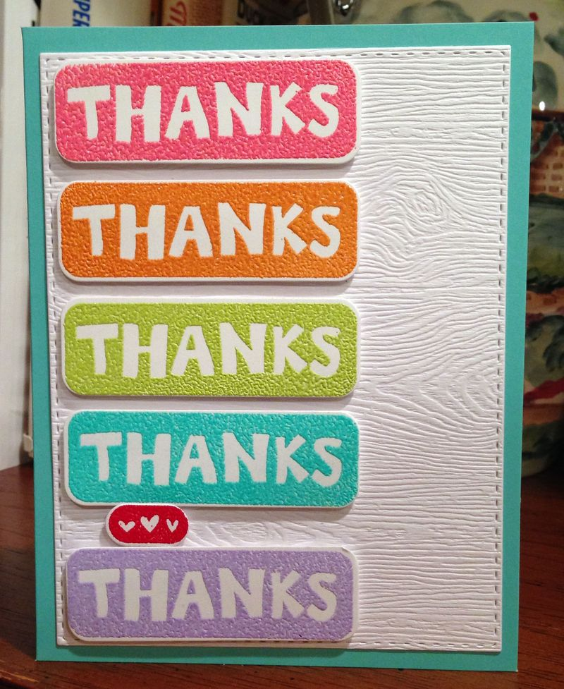 Better together thanks card