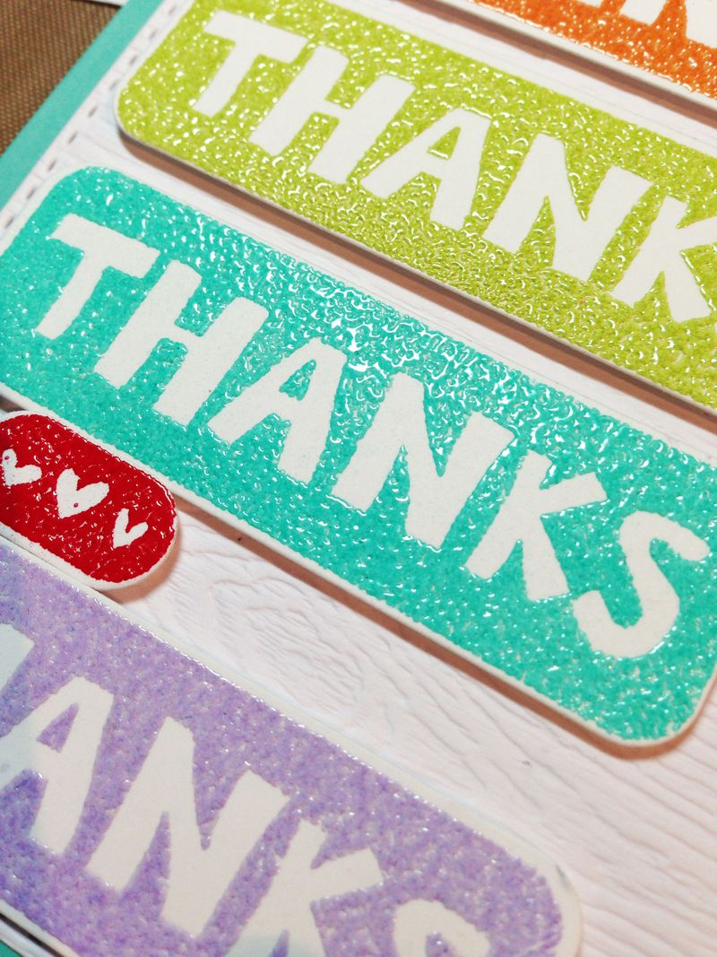 Better together thanks card close up