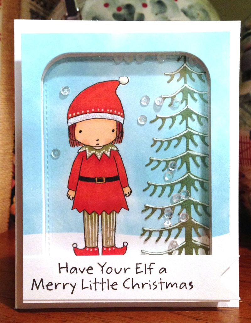 Elf girl Christmas card