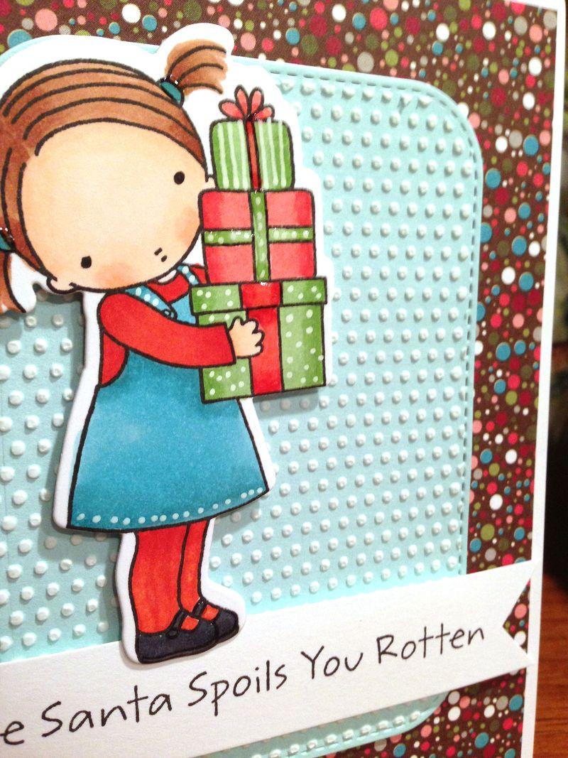 Hope Santa card close up