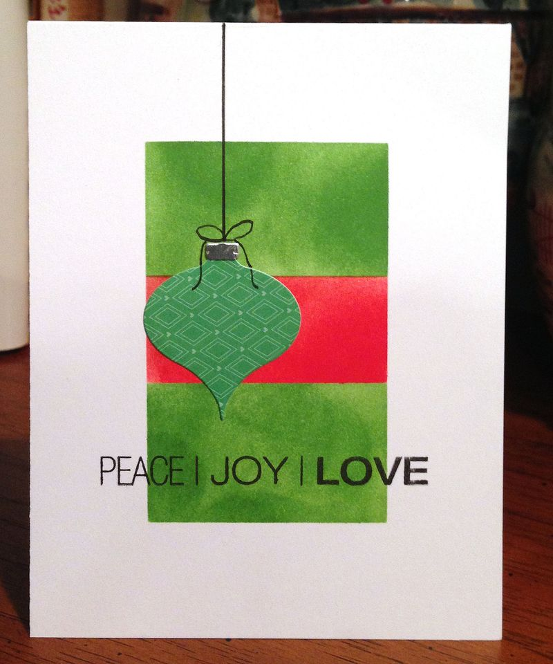Peace Joy Love card