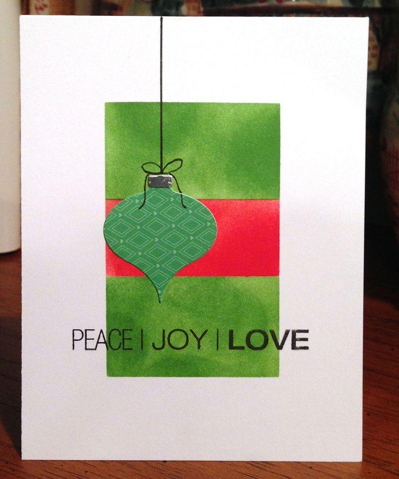 Peace Joy Love card