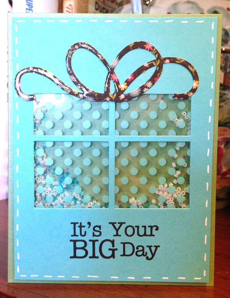 Its your big day shaker card