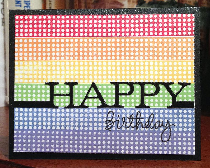 Happy Birthday rainbow dots card