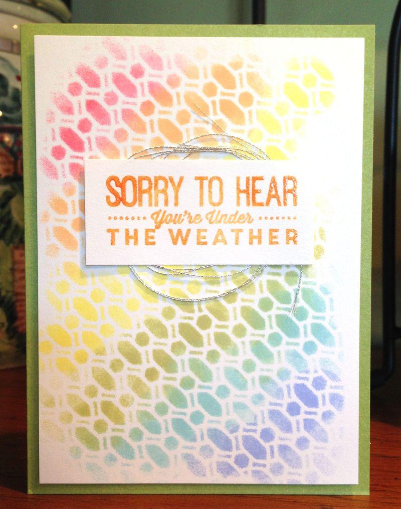 Under The Weather stencil card