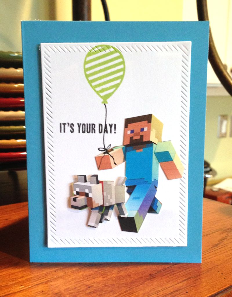Colin 9th birthday card