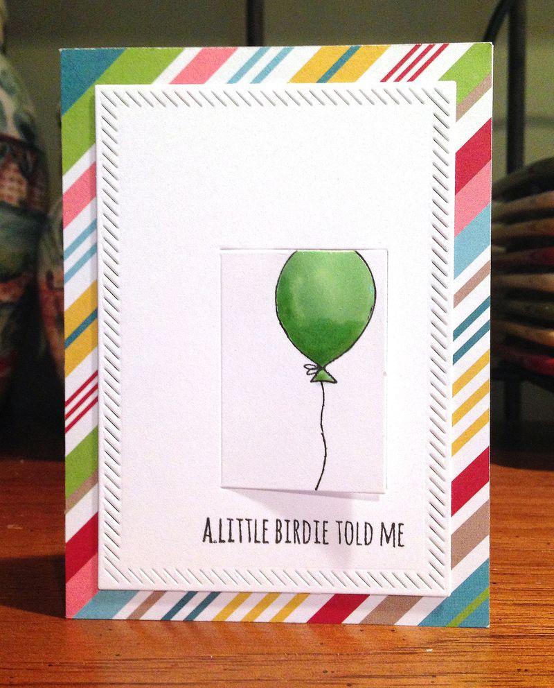 Little birdie window card 1
