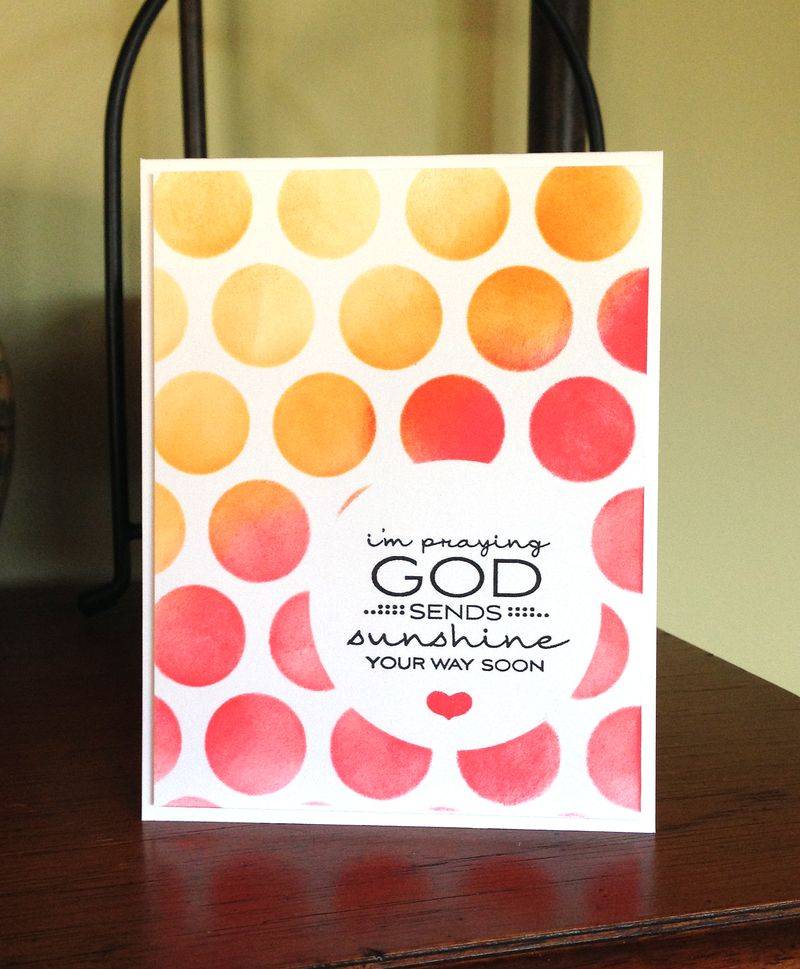 God sends sunshine card