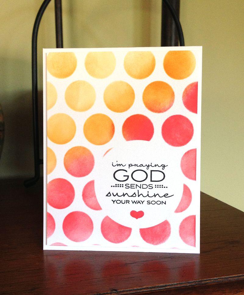 God sends sunshine card