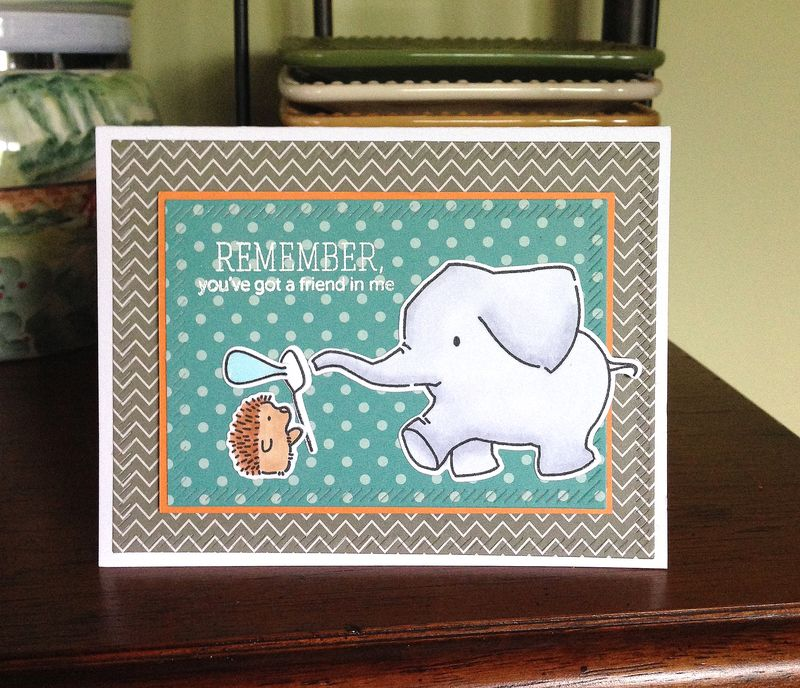 Youve got a friend elephant card