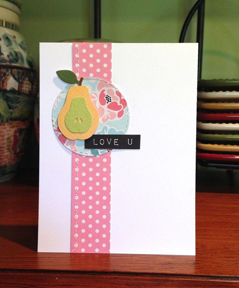 Pear love u card