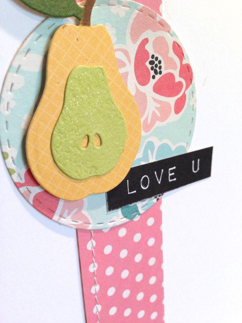 Pear love u card close up