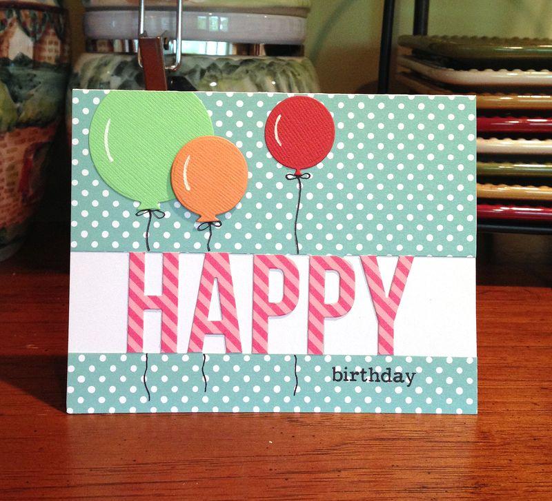 Happy Birthday die card