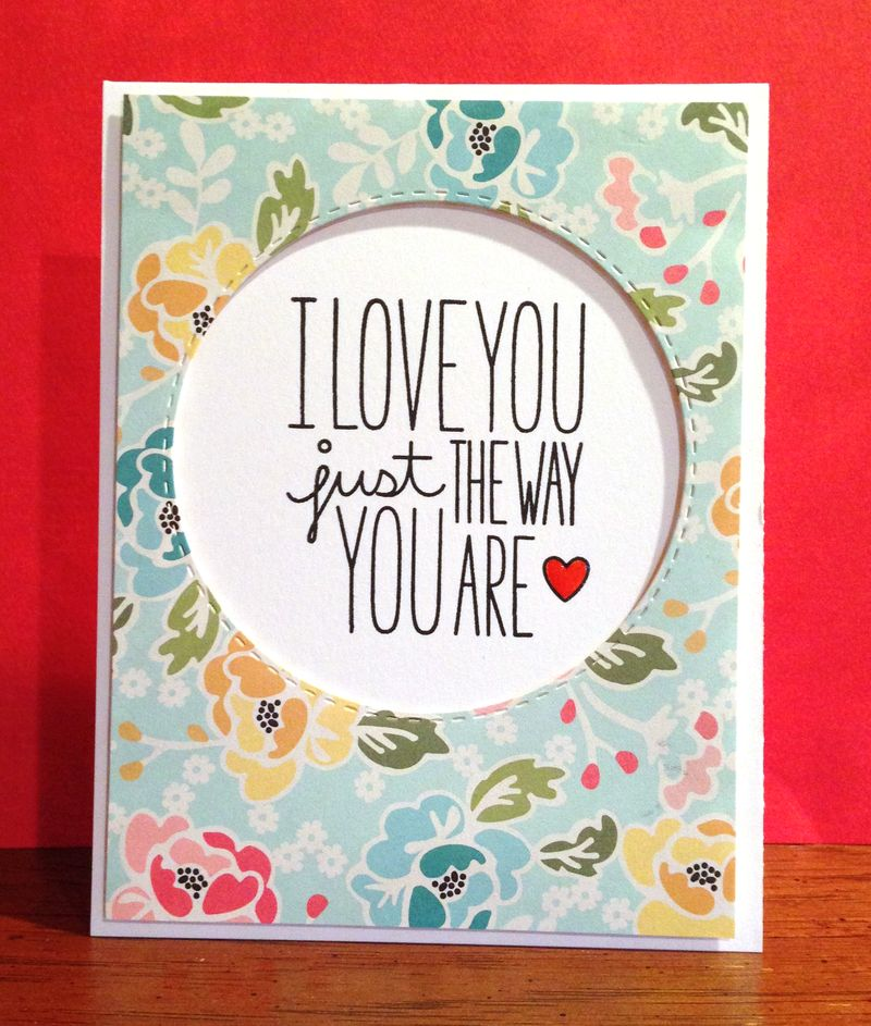 Love You Butterfly Relections card