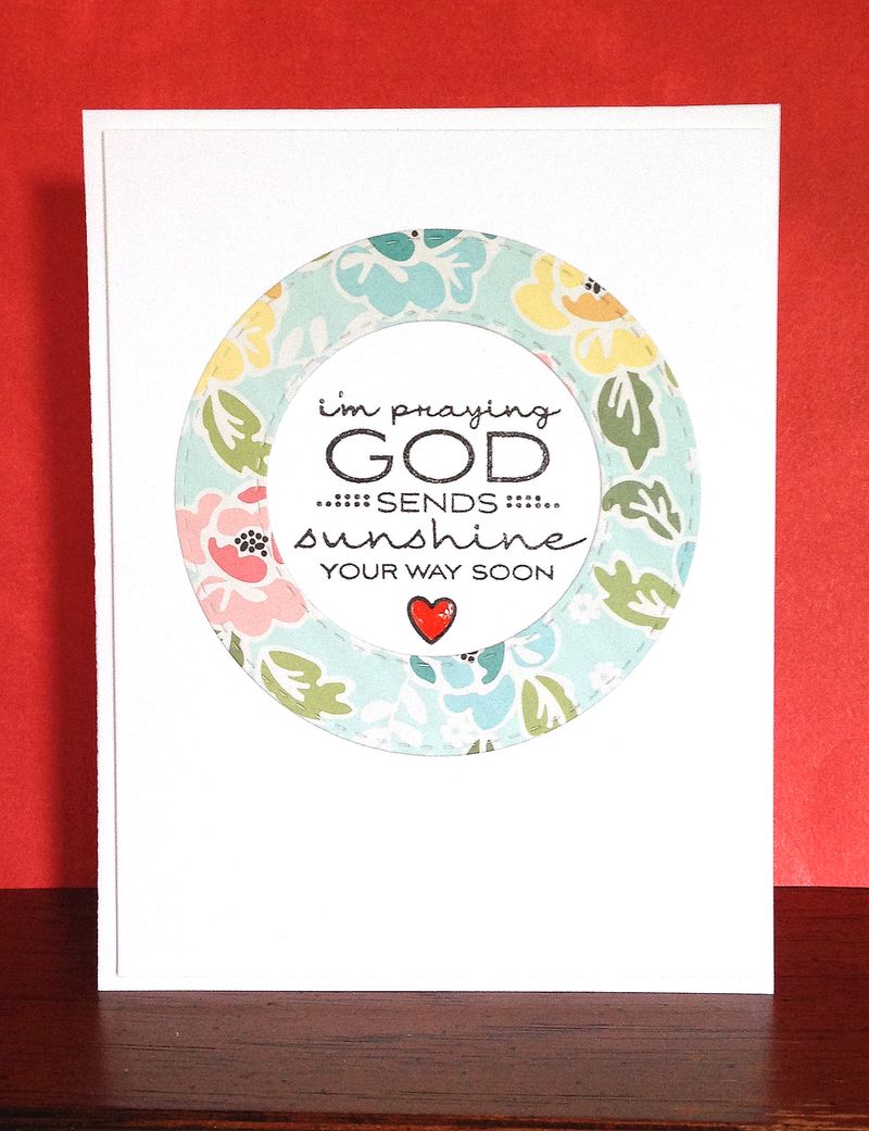 God sends sunshine circle card