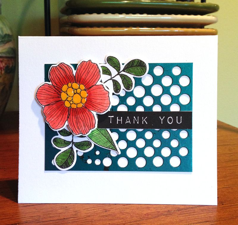 Blue foil dotted background card