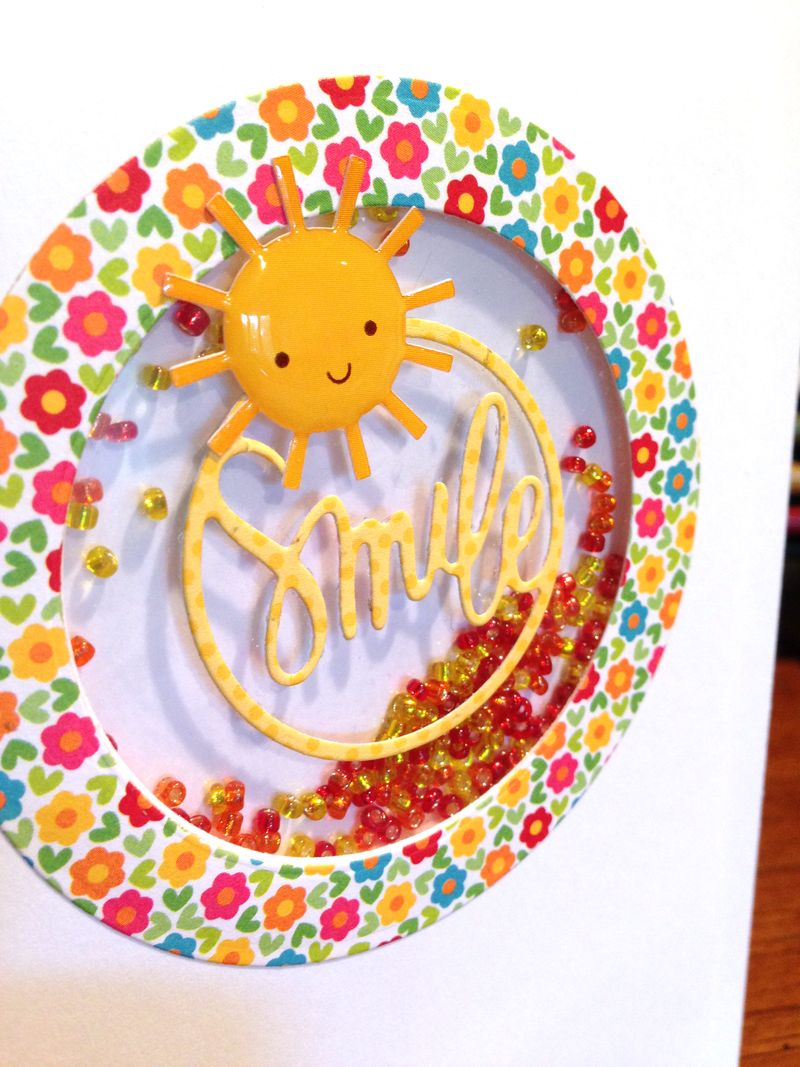 Smile card from June kit close up