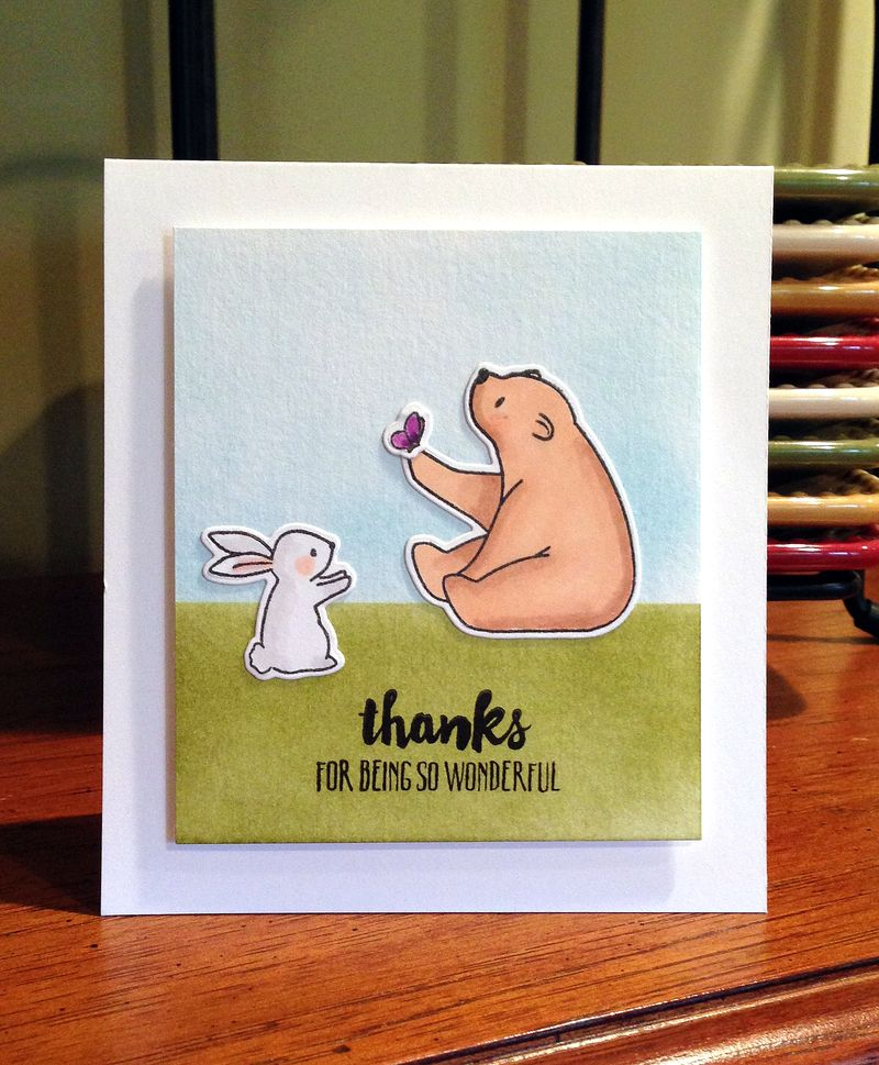 Thanks bear and bunny card