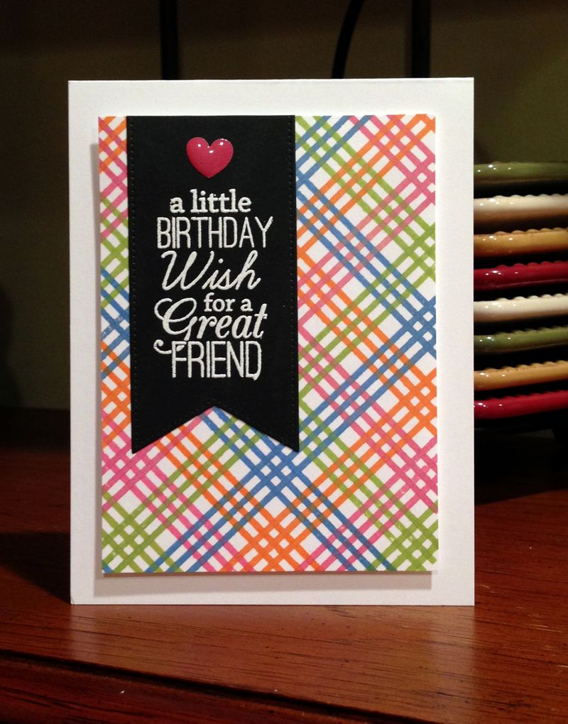 Great friend birthday mutli color plaid
