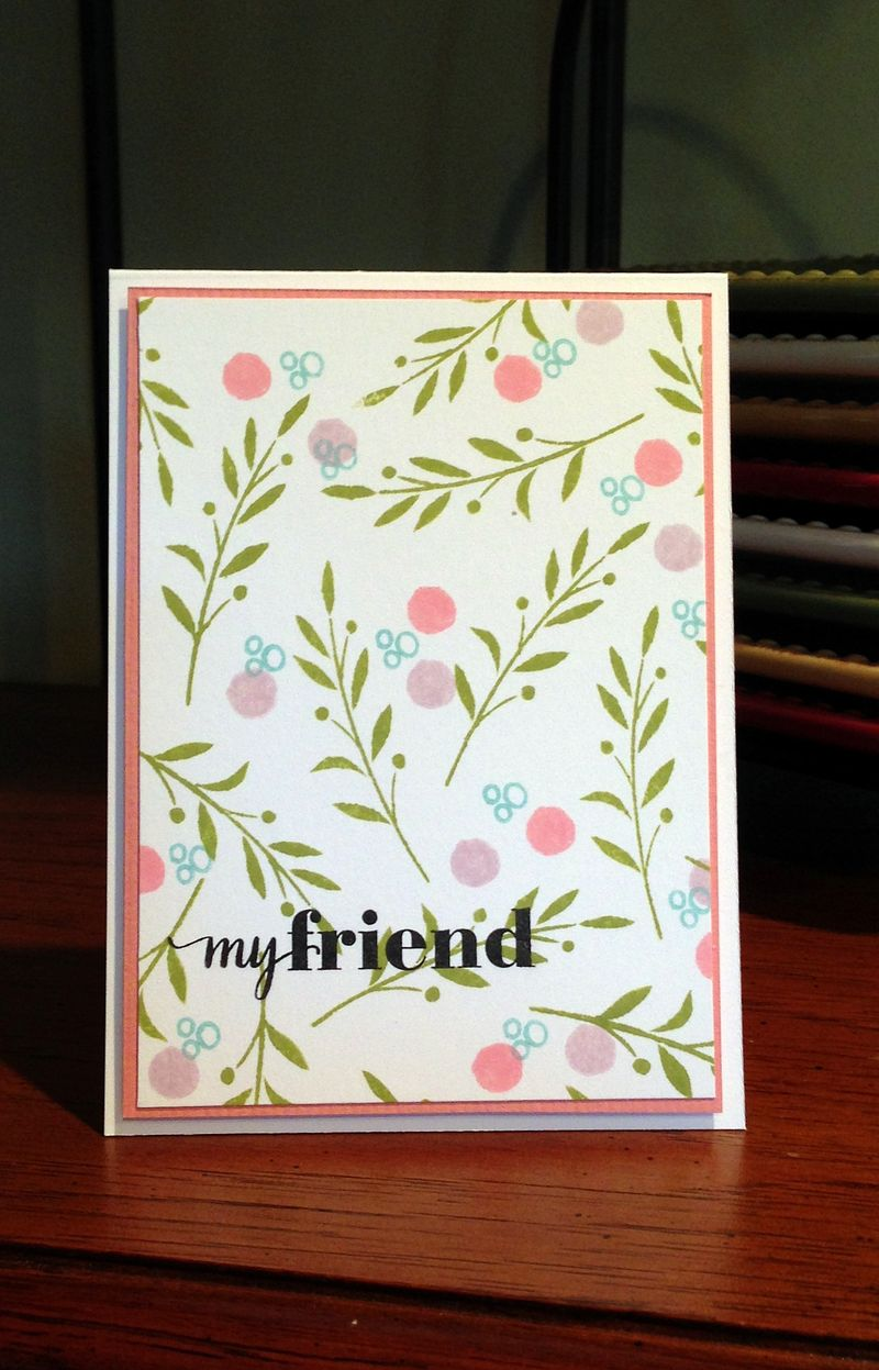 My friend card