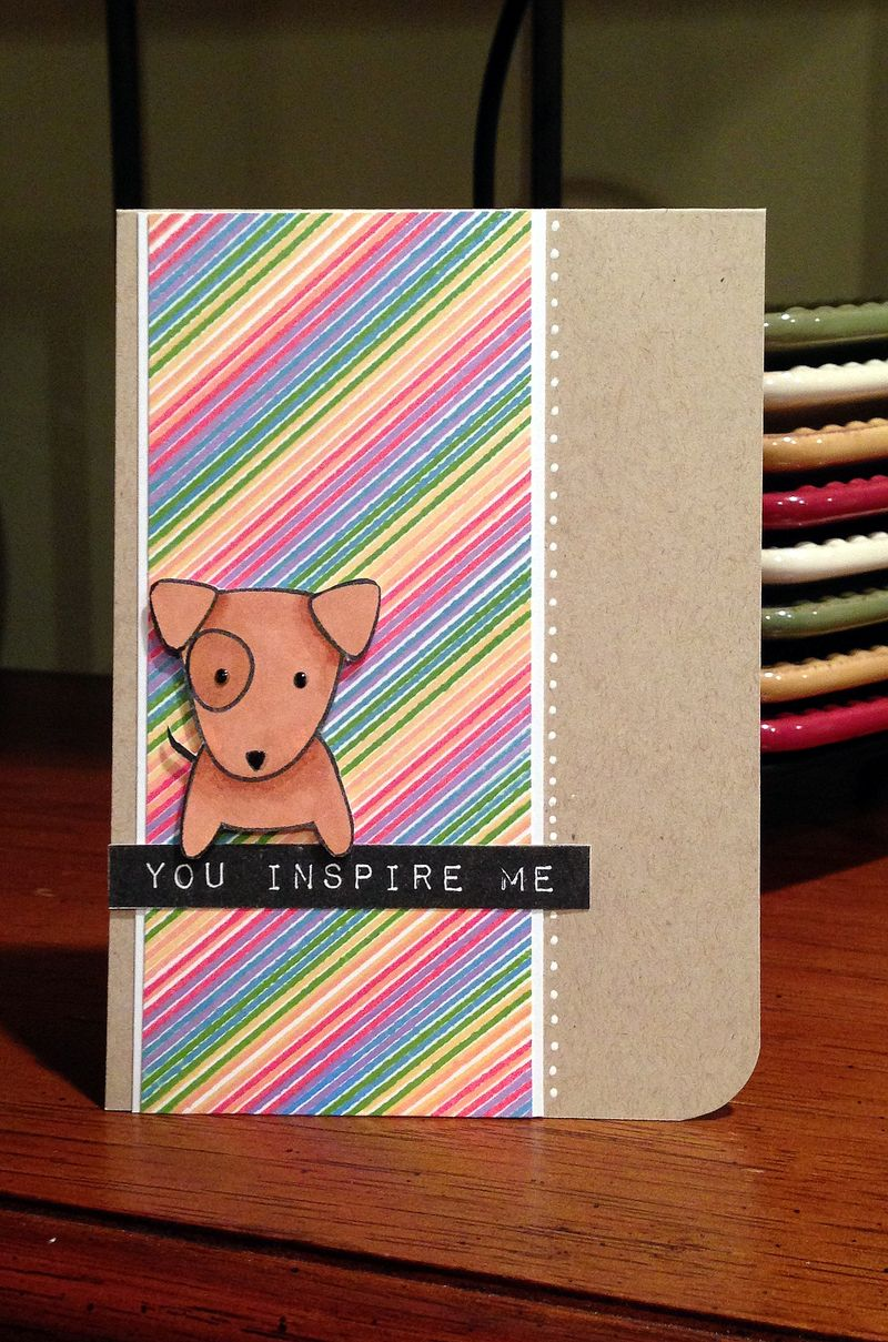 You inspire me striped card