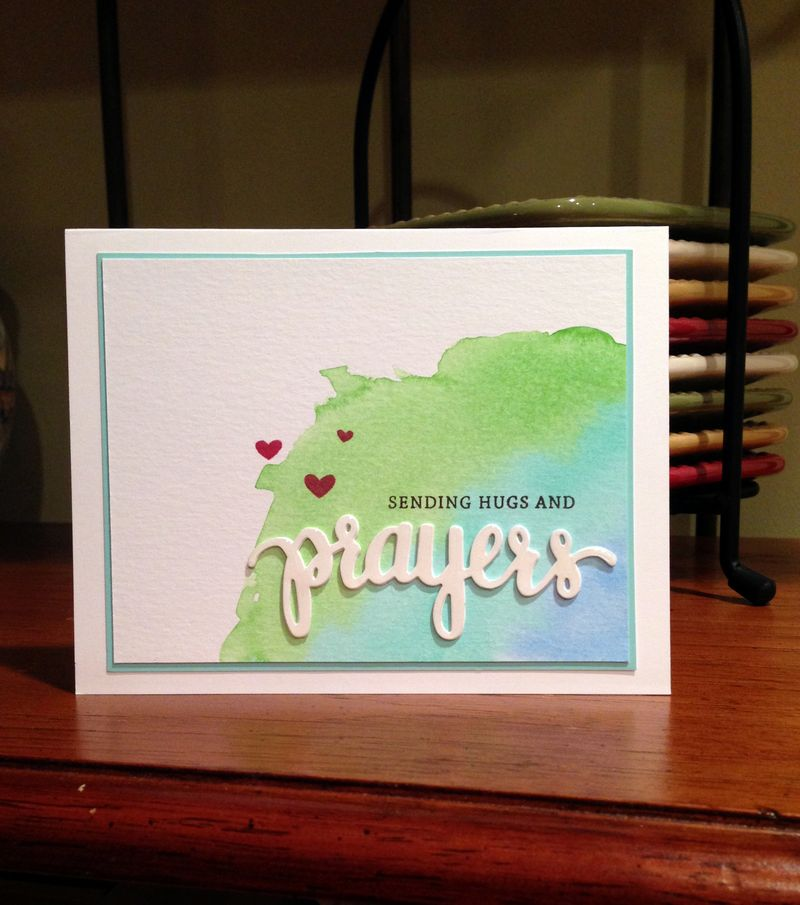 Prayers watercolor card