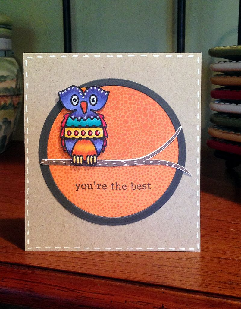 Youre the best owl card