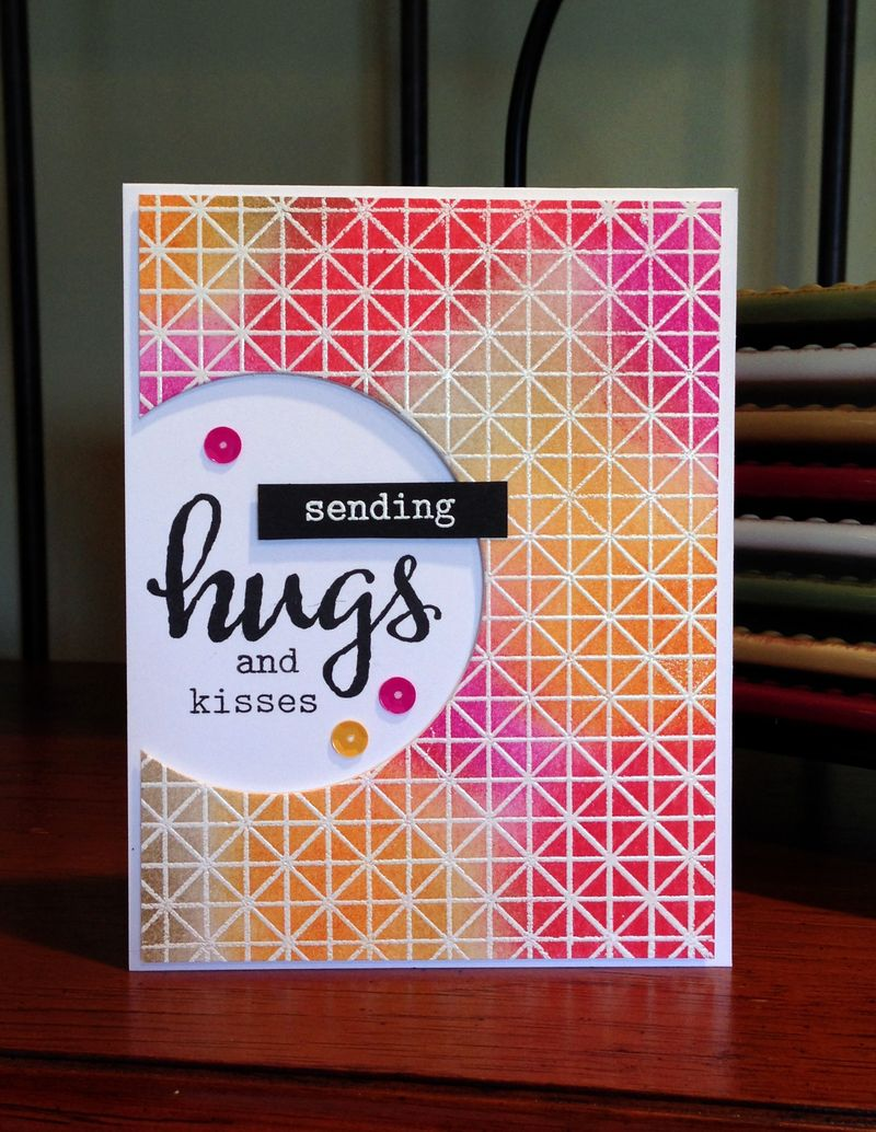 Sending Hugs Recipe 8 card