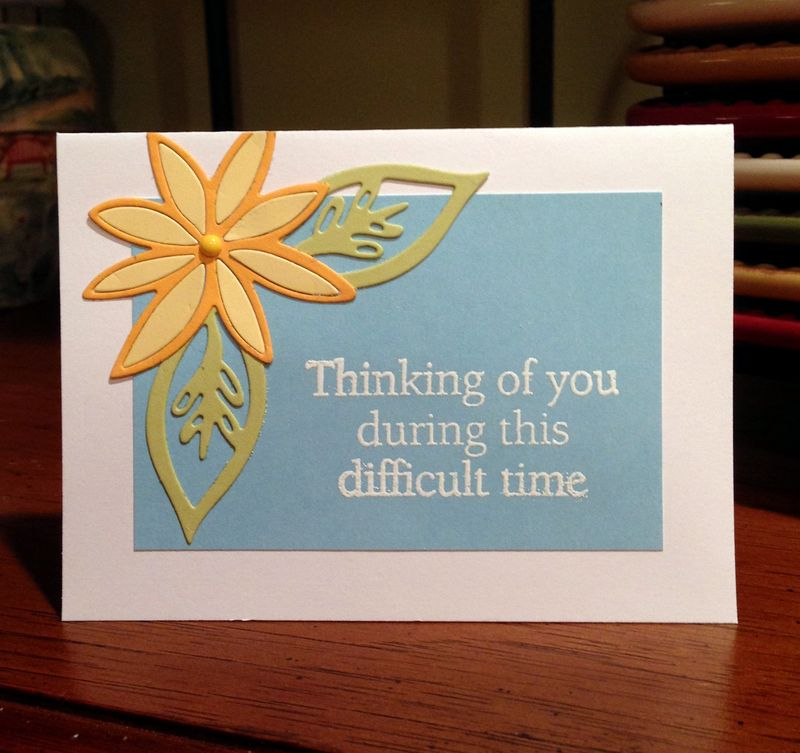 Difficult times card