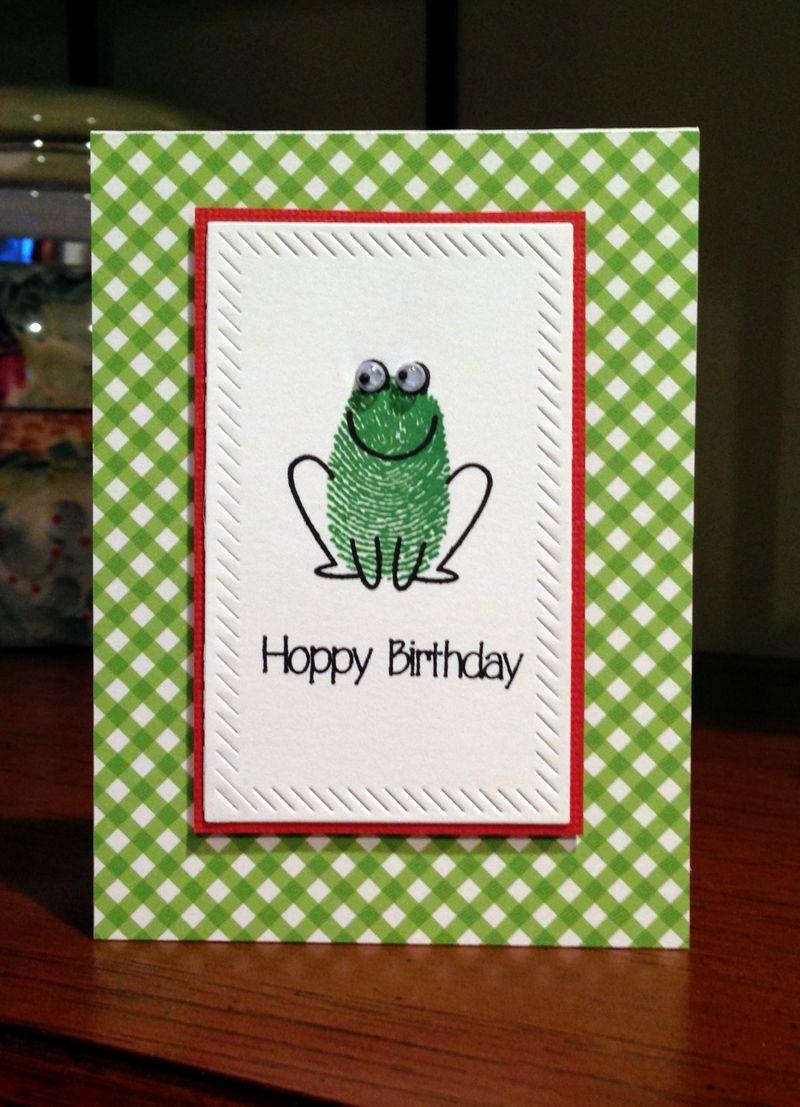 Fingerprint frog card