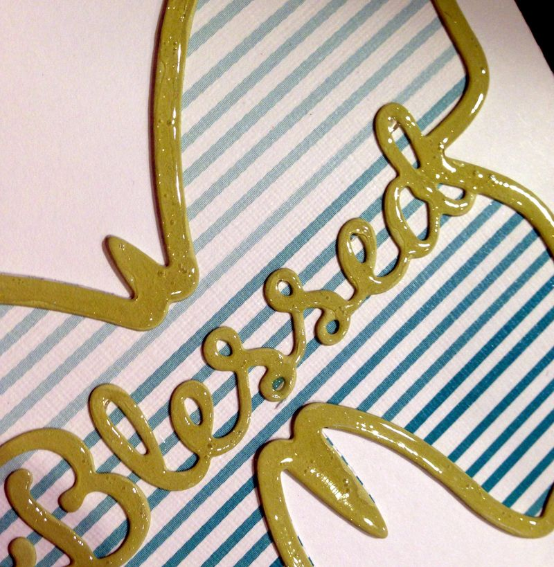 PTI Blessed butterfly card close up