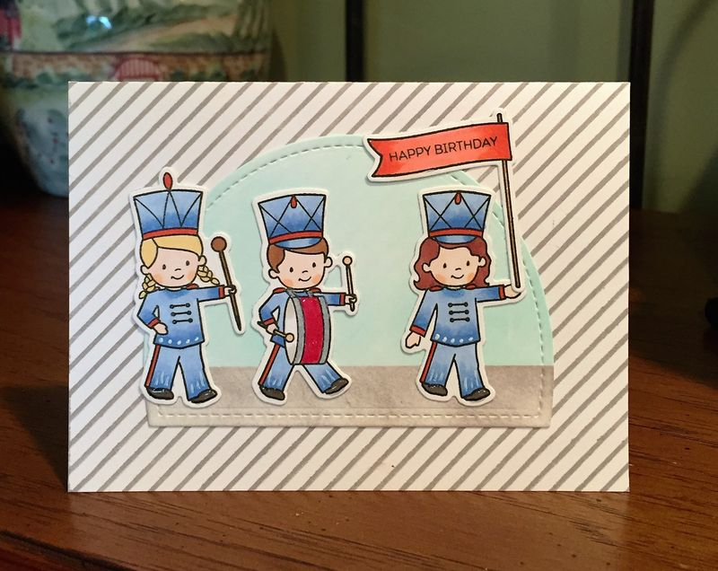 Marching band card for blog