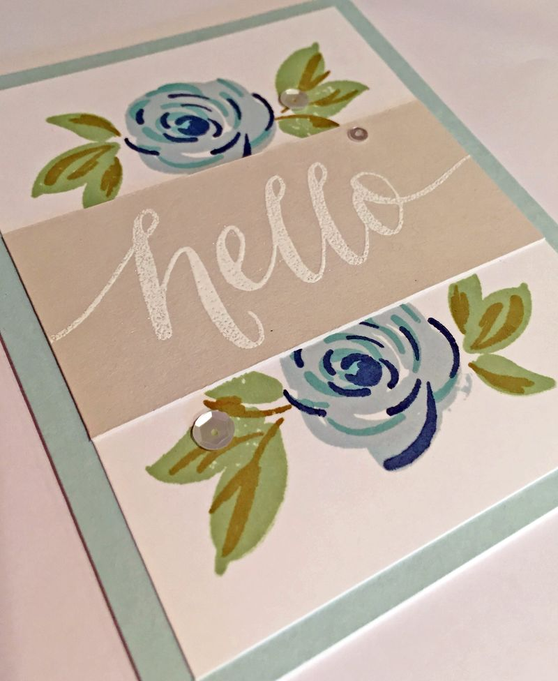 Wplus9 freehand floral hello card