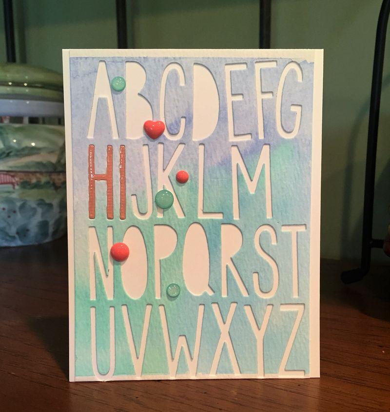 Hi alphabet card