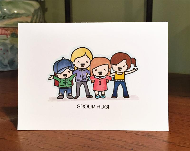 Group hug card