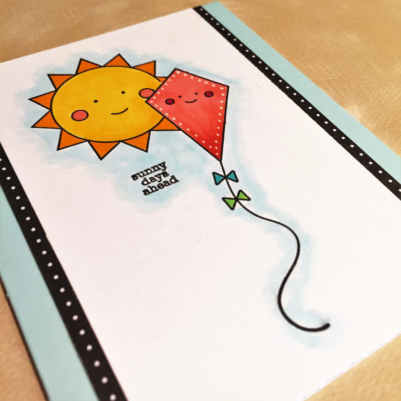 Sunny days ahead card close up
