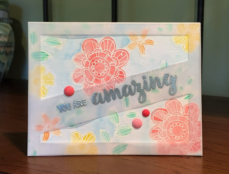 You are amazing watercolor card