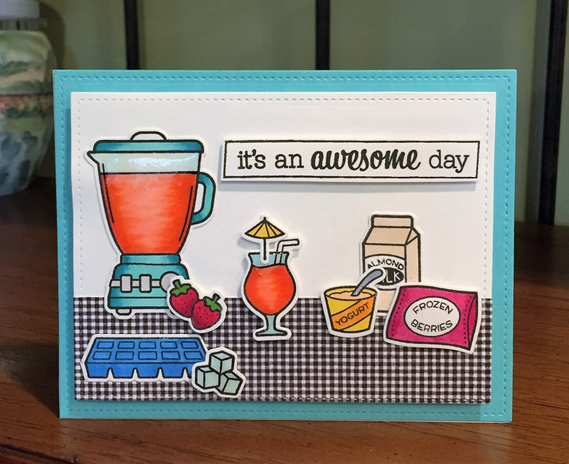 Amazing day smoothie card