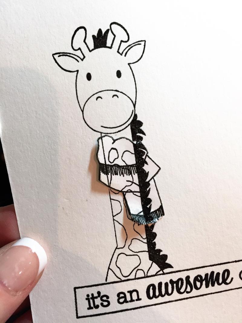 Audrey giraffe card in progress 2