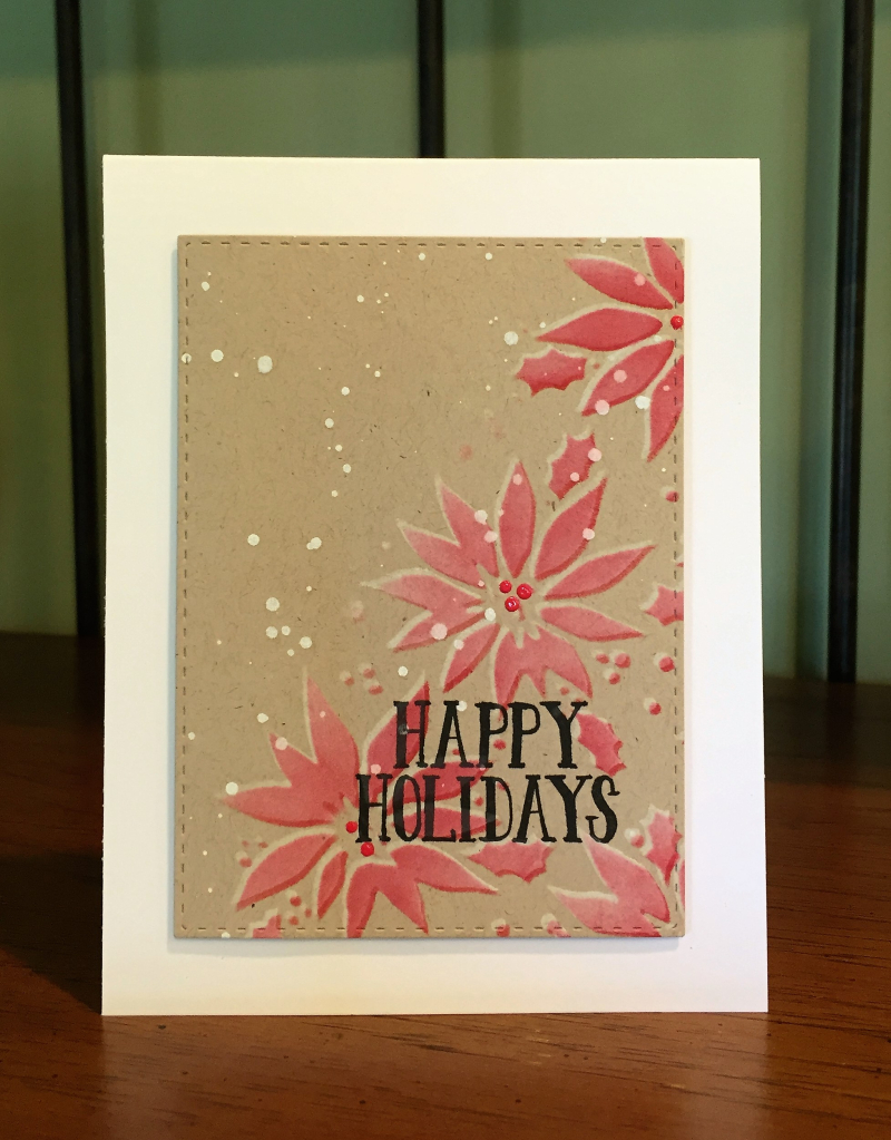 Stamptember 2016 1 poinsettia on craft card