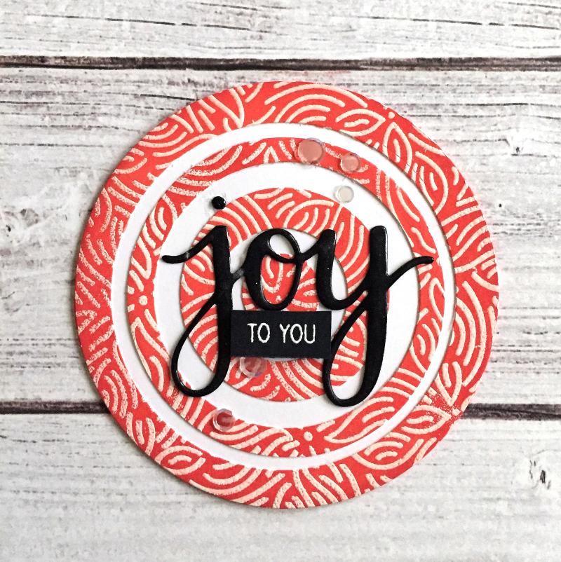 Joy round card