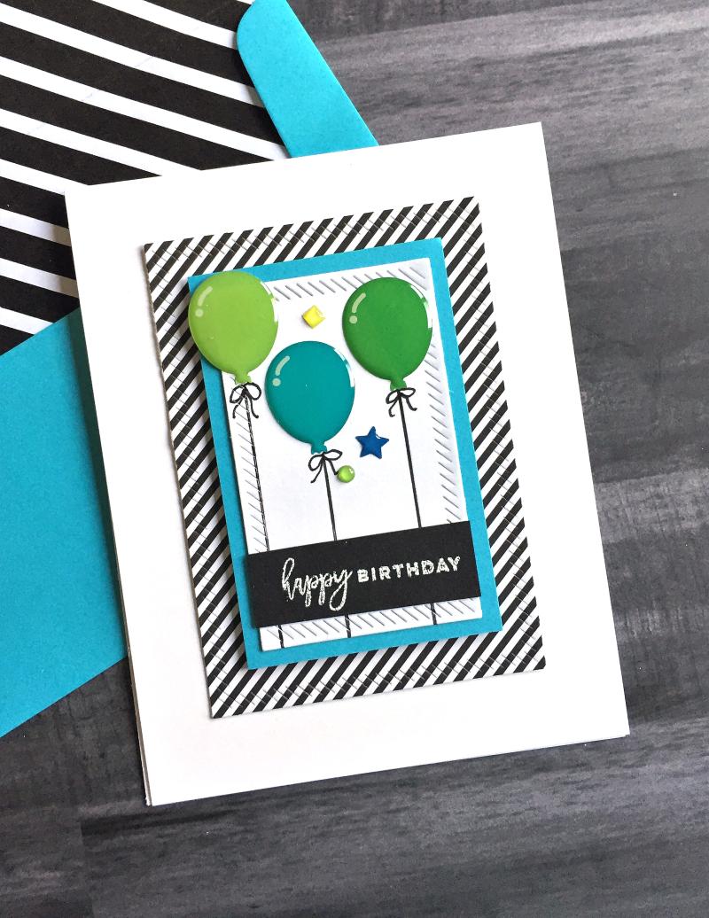 Doodlebug balloons card