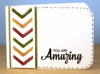 You are Awesome sparkly chevron card lower res