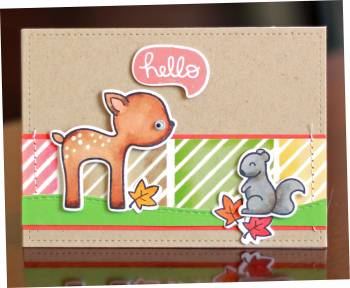 Lawn Fawn Hello critters card lower res