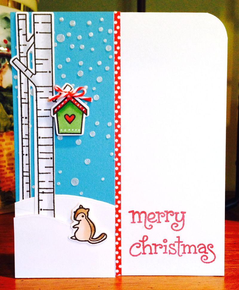 Lawn Fawn squirrel Christmas card