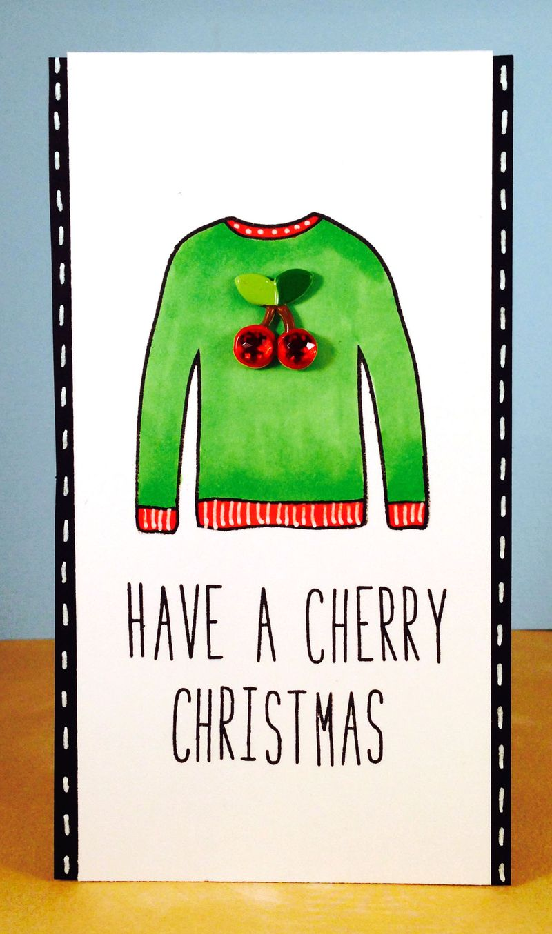 Cherry sweater card 1