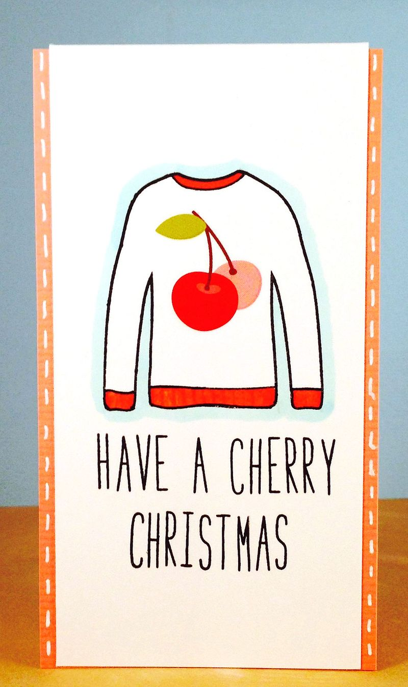 Cherry sweater card 3